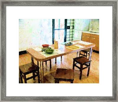 Japanese Kitchen At Morikami Framed Print
