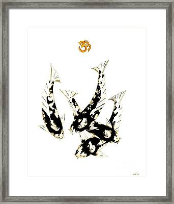 Japanese Koi The Beatles Framed Print by Gordon Lavender