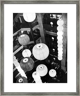 Japanese Lantern Display Framed Print by Underwood Archives