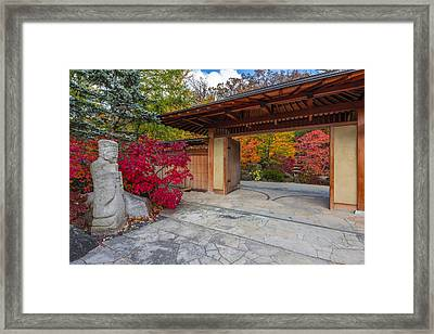 Japanese Main Gate Framed Print by Sebastian Musial
