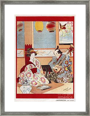 Japanese Music Scene 1898 1890s Japan Framed Print by The Advertising Archives