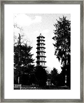 Japanese Pagoda At Kew Gardens Framed Print