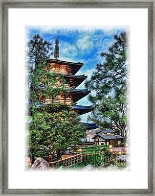 Japanese Pagoda Framed Print by Lee Dos Santos
