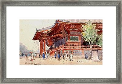 Japanese Pavilion And Courtyard Framed Print by Roberto Prusso