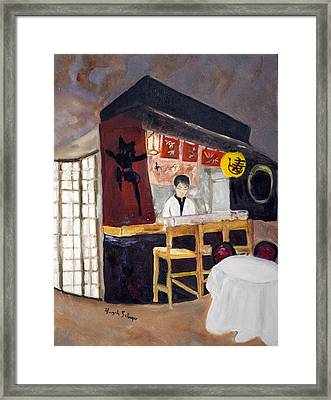 Japanese Restaurant Framed Print