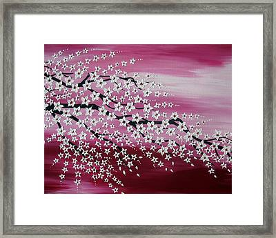 Japanese Spring Framed Print by Cathy Jacobs
