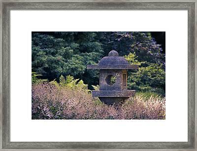 Japanese Stone Lantern Framed Print by Maria Angelica Maira