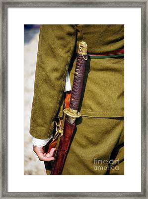 Japanese Sword Ww II Framed Print by Thomas Woolworth