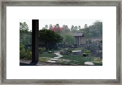 Japanese Tea Garden Early Morning Framed Print