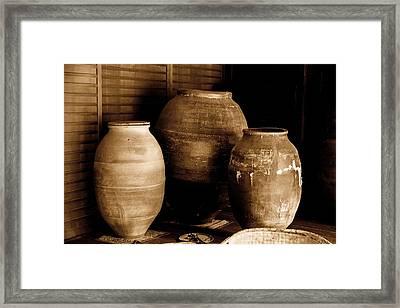 Japanese Tea Urns Framed Print