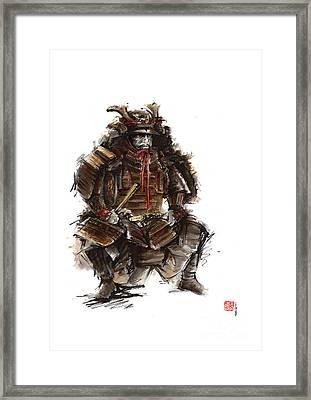 Japanese Warrior Armor. Framed Print
