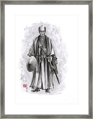 Japanese Warriors Painting. Framed Print by Mariusz Szmerdt