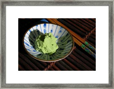 Japanese Wasabi Paste Framed Print by James Temple