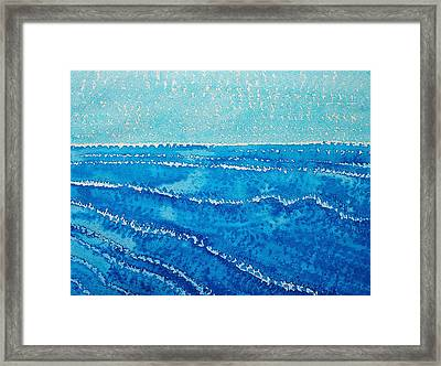 Japanese Waves Original Painting Framed Print by Sol Luckman