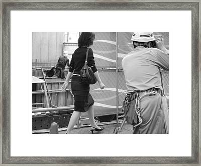 Japanese Woman Survey Framed Print by King Wells