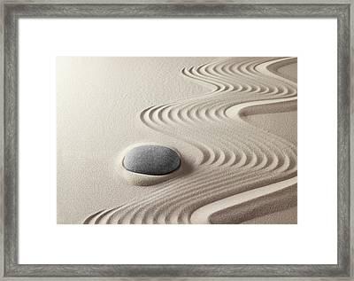 Japanese Zen Garden 21x30 Framed Print by Dirk Ercken
