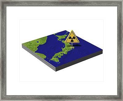 Japan's Nuclear Disaster, Artwork Framed Print