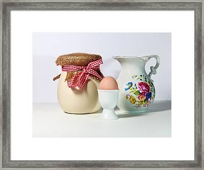 Jar And Egg Framed Print