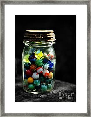 Jar Full Of Sunshine Framed Print by Rebecca Sherman
