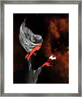 Jar Of Hearts Framed Print by Anja Partin
