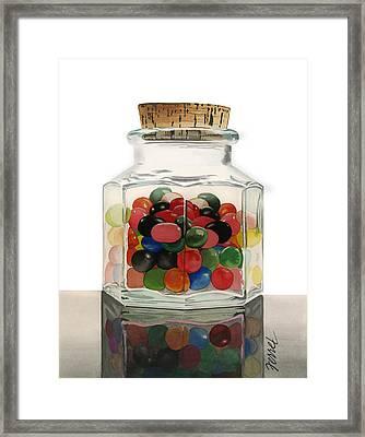 Jar Of Jelly Bellies Framed Print
