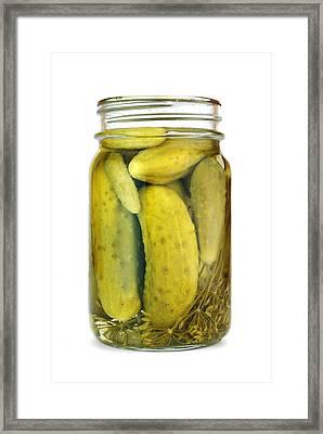 Jar Of Pickles Framed Print by Jim Hughes