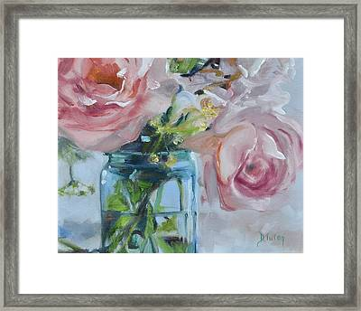 Jar Of Pink Framed Print