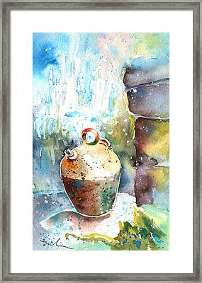 Jar Under A Waterfall Framed Print by Miki De Goodaboom