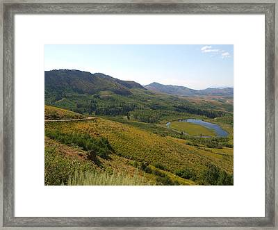 Jarbidge Road Framed Print by Jenessa Rahn