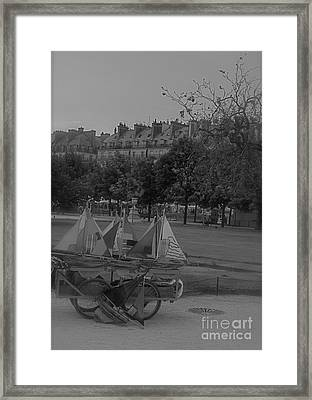Jardin Des Tuileries Framed Print by Louise Fahy