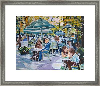 Framed Print featuring the painting Jardin Du Luxembourg by Julie Todd-Cundiff