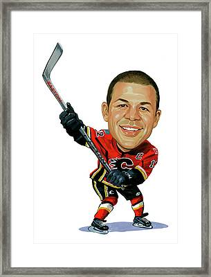 Jarome Iginla Framed Print by Art