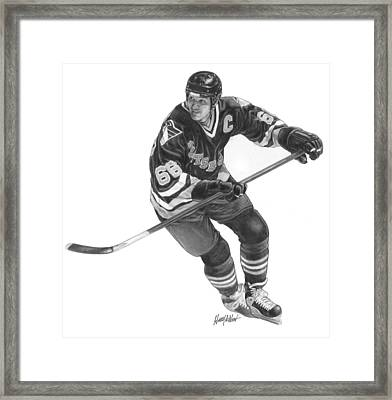 Jaromir Jagr Framed Print by Harry West