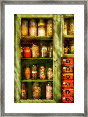 Jars - Ingredients II Framed Print by Mike Savad