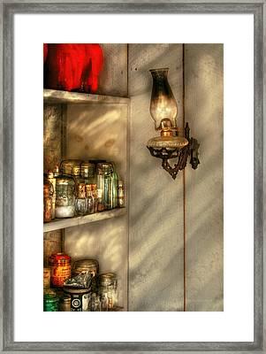 Jars - Kitchen Corner Framed Print by Mike Savad