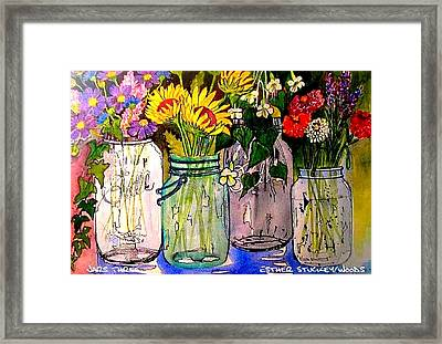 Jars Three Framed Print