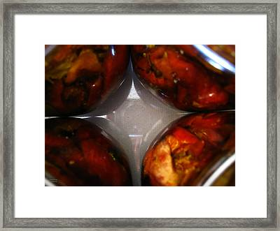 Jars With Sun Dried Tomatoes Framed Print