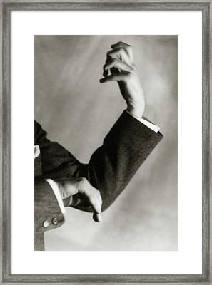 Jascha Heifetz' Hands Framed Print by Francis Bruguiere