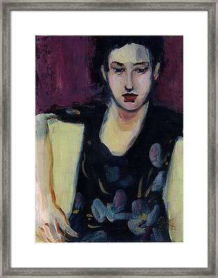 Framed Print featuring the painting Jasmin by Elaine Elliott