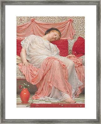 Jasmine Framed Print by Albert Joesph Moore