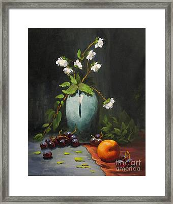 Jasmine And Peach Framed Print
