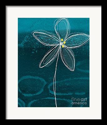 Blue Petals Framed Prints