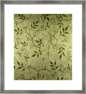 Jasmine Wallpaper Design Framed Print by William Morris