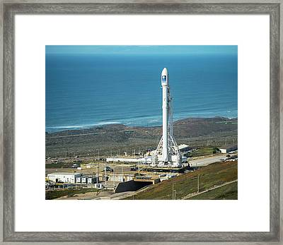 Jason-3 Satellite Launch Framed Print