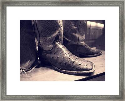 Jason Aldean's Boots Framed Print by Dan Sproul