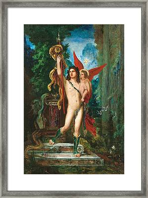 Jason And Eros Framed Print by Gustave Moreau