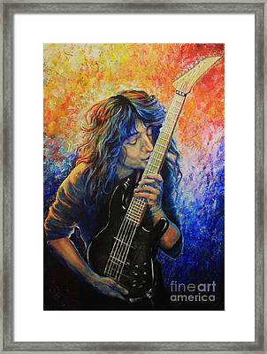 Jason Becker Framed Print by Tylir Wisdom