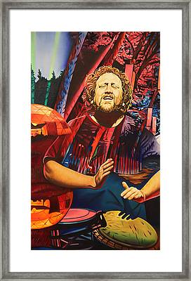Framed Print featuring the painting Jason Hann At Horning's Hideout by Joshua Morton