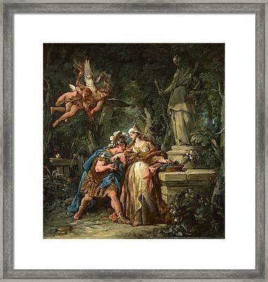 Jason Swearing Eternal Affection To Medea Framed Print by Jean-Francois Detroy