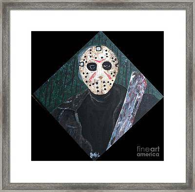 Jason Voorhees  Framed Print by JoNeL Art